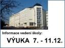 Informace: 7. - 11. 12. 2020